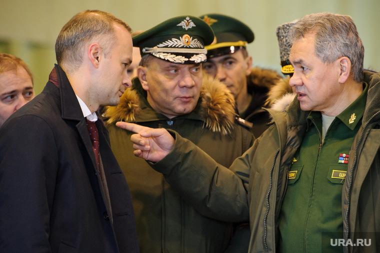 Визит министра обороны РФ Сергея Шойгу в Екатеринбург, шойгу сергей, бадеха вадим, борисов юрий
