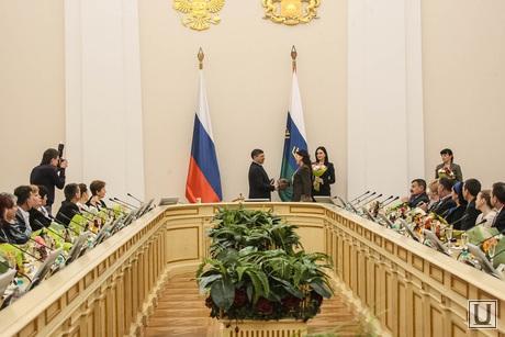 Торжественное мероприятие, посвященное всероссийскому Дню матери с вручением медалей «Материнская слава». Тюмень