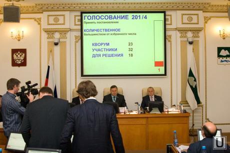 Согласование кандидатуры Сергея Путмина Облдума Курган 26.11.2013г, голосование