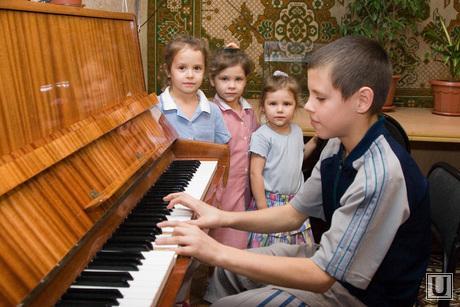 Семья Чернявских Курган 07.12.2013г, дети, многодетная семья, пианино