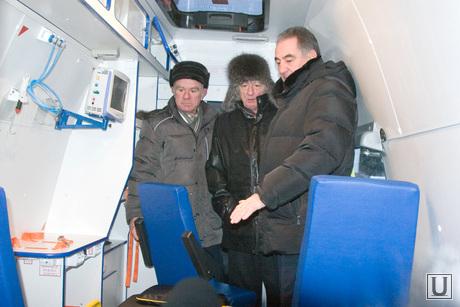 Передача машин скорой помощи площадь Ленина Курган
