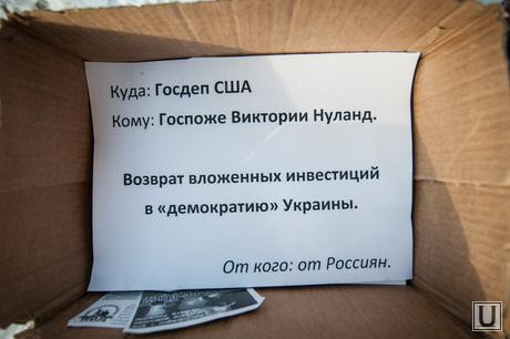 Митинг Национально-освободительного движения у американского консульства в Екатеринбурге. Сухари для Нуланд, Нуланд Виктория