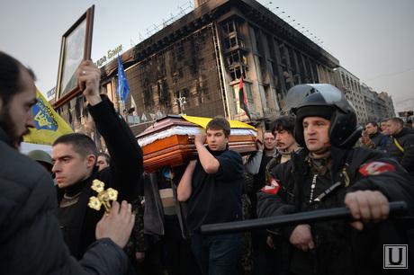 Майдан. Похороны погибших. Украина. Киев