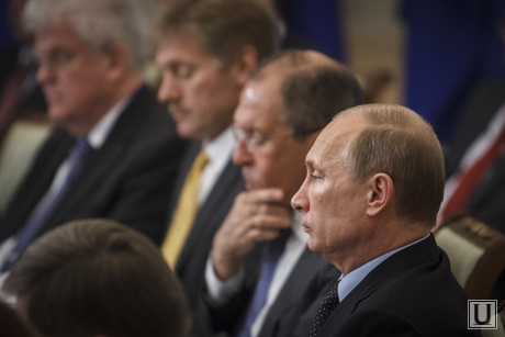 Саммит Россия-ЕС. Приезд гостей и пленарное заседание, путин владимир, песков дмитрий, лавров сергей