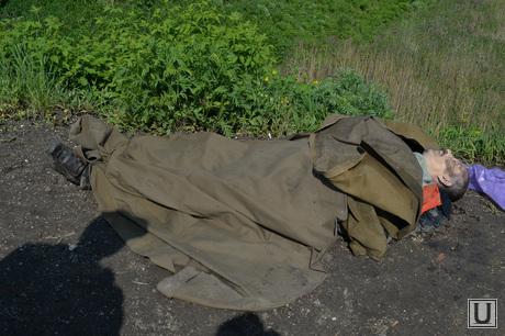 Последствия АТО и украинские блокпосты в Краматорске. Украина, труп, смерть, убитый