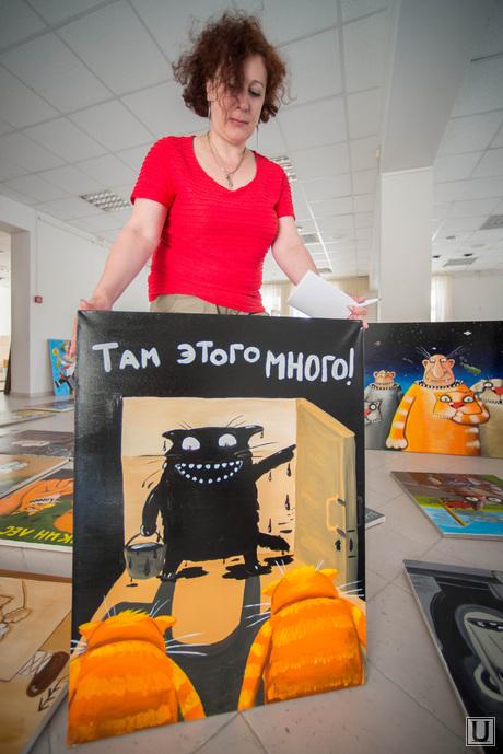 Подготовка выставки работ Васи Ложкина в Галерее современного искусства. Екатеринбург, фикс ксения, там этого много