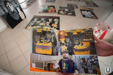 Подготовка выставки работ Васи Ложкина в Галерее современного искусства. Екатеринбург, вася ложкин