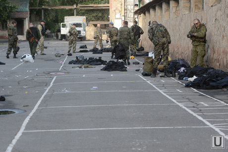 Захваченная военная часть. Луганск. Украина