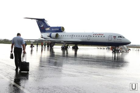 Аэропорт, споттинг Курган, посадка пассажиров, як 42