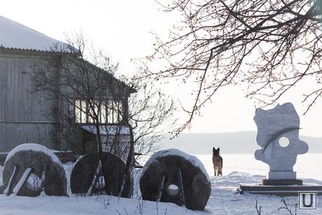 Чебаркуль, репортаж с годовщины падения метеорита. 14.02.2014, стела метеорит