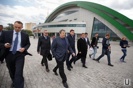 Евгений Куйвашев на реконструкции стадиона