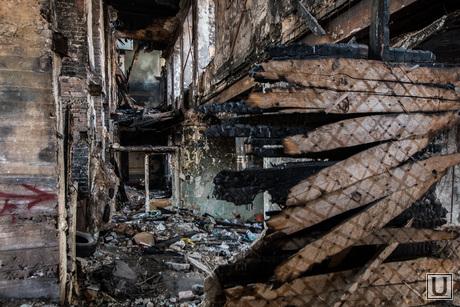 Пожар в заброшенной больнице в Зеленой роще. Екатеринбург, разруха, пожарище, заброшенная больница
