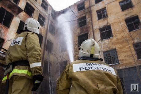 Пожар в заброшенной больнице в Зеленой роще. Екатеринбург, мчс, пожарные, заброшенная больница