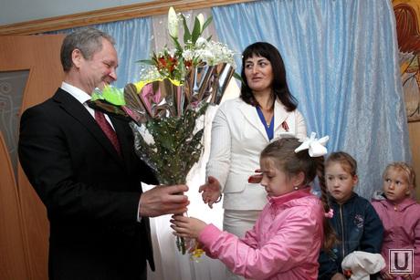 Открытие церковной школы Курган, кокорин алексей, церковная школа, цветы кокорину