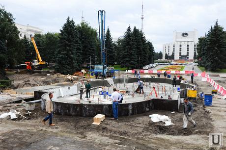 Фонтан реконструкция. Челябинск, фонтан, реконструкция