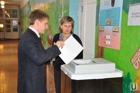 Голосование кандидата в губернаторы Юрия Александрова