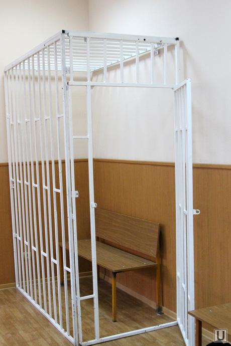 Приговор Калугиной Курган, клетка в суде