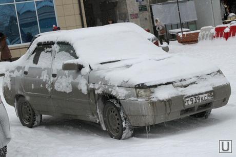 Курган в снегу