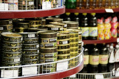 Торговля. клипарт , магазин, консервы, супермаркет, продуктовые полки, гастроном, шпроты