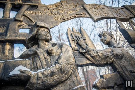 Открытие памятника детям-труженикам тыла. Екатеринбург, памятник, детям-труженикам тыла