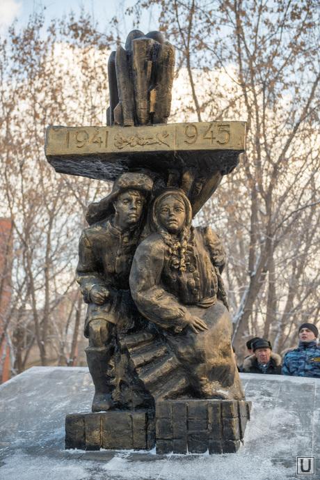 Открытие памятника детям-труженикам тыла. Екатеринбург, памятник