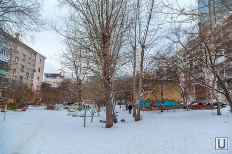 Рабочая поездка по городу №4. Екатеринбург, двор, зима