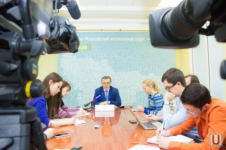 Пресс-конференция. Сергей Полукеев. Ханты-Мансийск., полукеев сергей