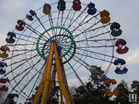 Зимнее солнцестояние, парк Гагарина, Челябинск, огненное колесо обозрения, аттракцион, колесо обозрения, парк гагарина, челябинск парк