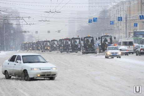 Снегопад. Уборка города. Челябинск., трактор, зима, снег, снегоуборщики
