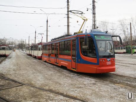 Трамвайный парк. ЧелябГЭТ. Челябинск., трамвай