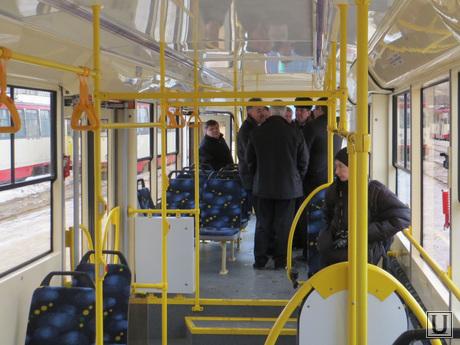 Трамвайный парк. ЧелябГЭТ. Челябинск., салон трамвая