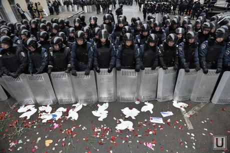 Евромайдан. Киев. Украина, омон, полиция, беспорядки, оцепление, беркут