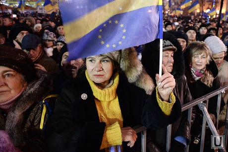 Евромайдан. Киев. Украина, флаг, евросоюз
