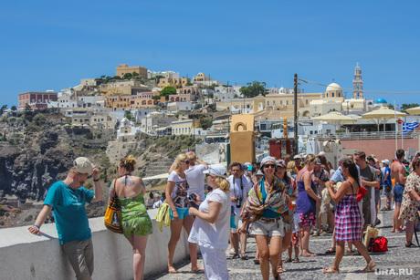 Санторини. Греция., туристы, греция, санторини