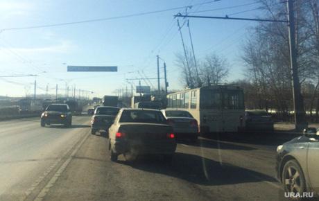 Авария в Челябинске., дтп, авария