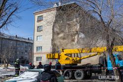 Обрушение дома на Харьковской, 52а. Работа спасателей. Тюмень