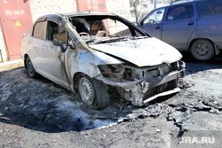 Город, пресс-конференция Заскалькина Курган, рухлядь, разбитая машина