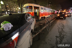 ДТП. Авария с участием трамвая на Ленина - Мамина-Сибиряка. Екатеринбург, дтп, трамвай