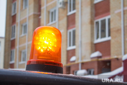 Уборка снега. Ханты-Мансийск, мигалка
