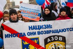 День народного единства 2014. Тюмень, плакат, нацизм