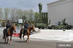 Военная техника на ВДНХ. Москва, конная полиция, с-300, зрк