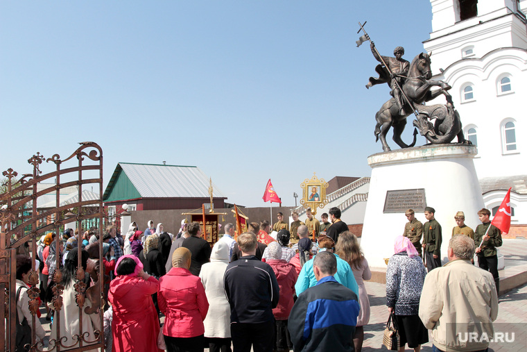 Праздник Георгия Победоносца Курган - Частоозерье, молебен, памятник георгию победоносцу