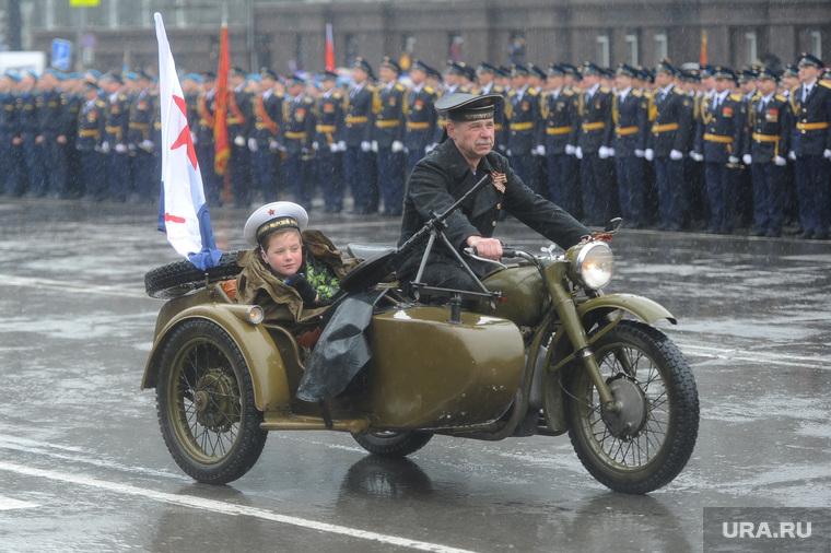 Парад Победы. Челябинск., мотоцикл