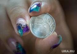 Новый рубль., маникюр, рубль, монета, состоятельность, валюта, деньги