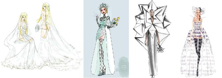 778f1359a46 Мировые кутюрье разработали эскизы свадебного платья для Леди Гага