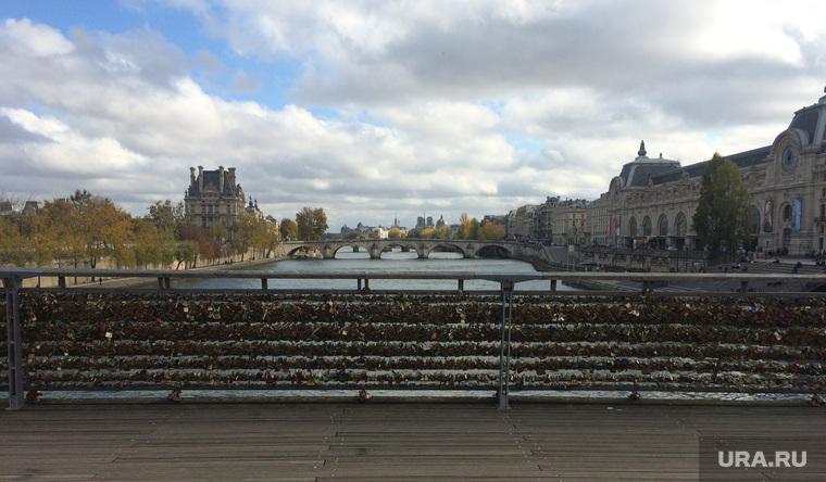 Париж, мост, сена, замки
