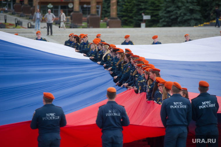 Парад Флагов на Поклонной горе. Москва, флаг, мчс
