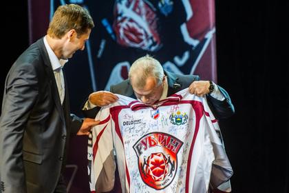 Награждение хоккейного клуба Рубин за сезон 2013-2014 года. Тюмень, хк рубин