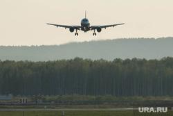 Клипарт по теме Аэропорт. Екатеринбург, посадка самолета, самолет