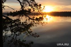 Озерск. Челябинская область., закат, озеро